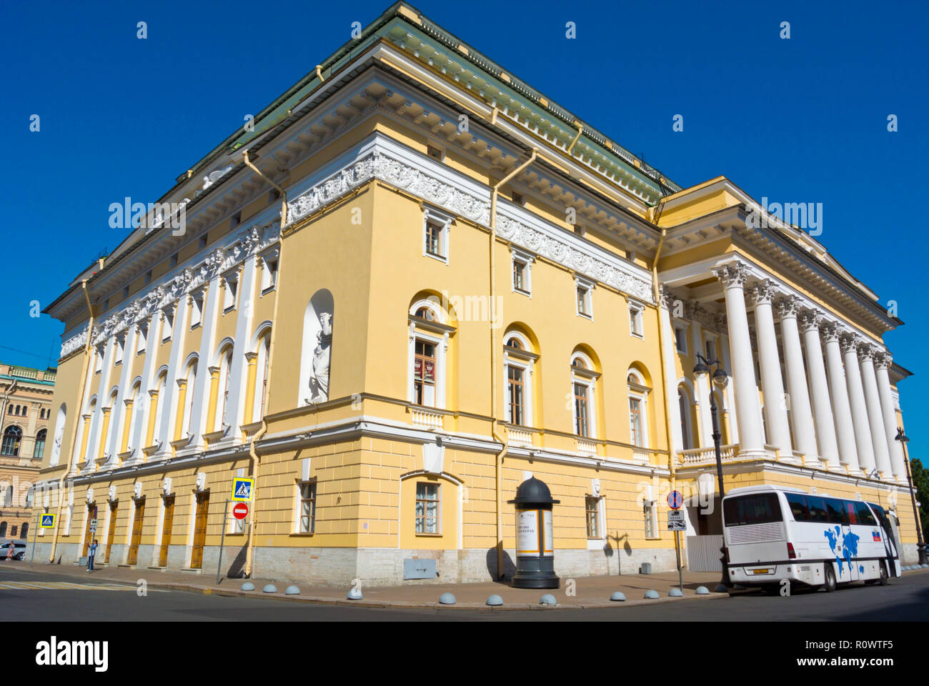 Alexandrinsky Theatre, Saint Petersburg, Russia - Stock Image