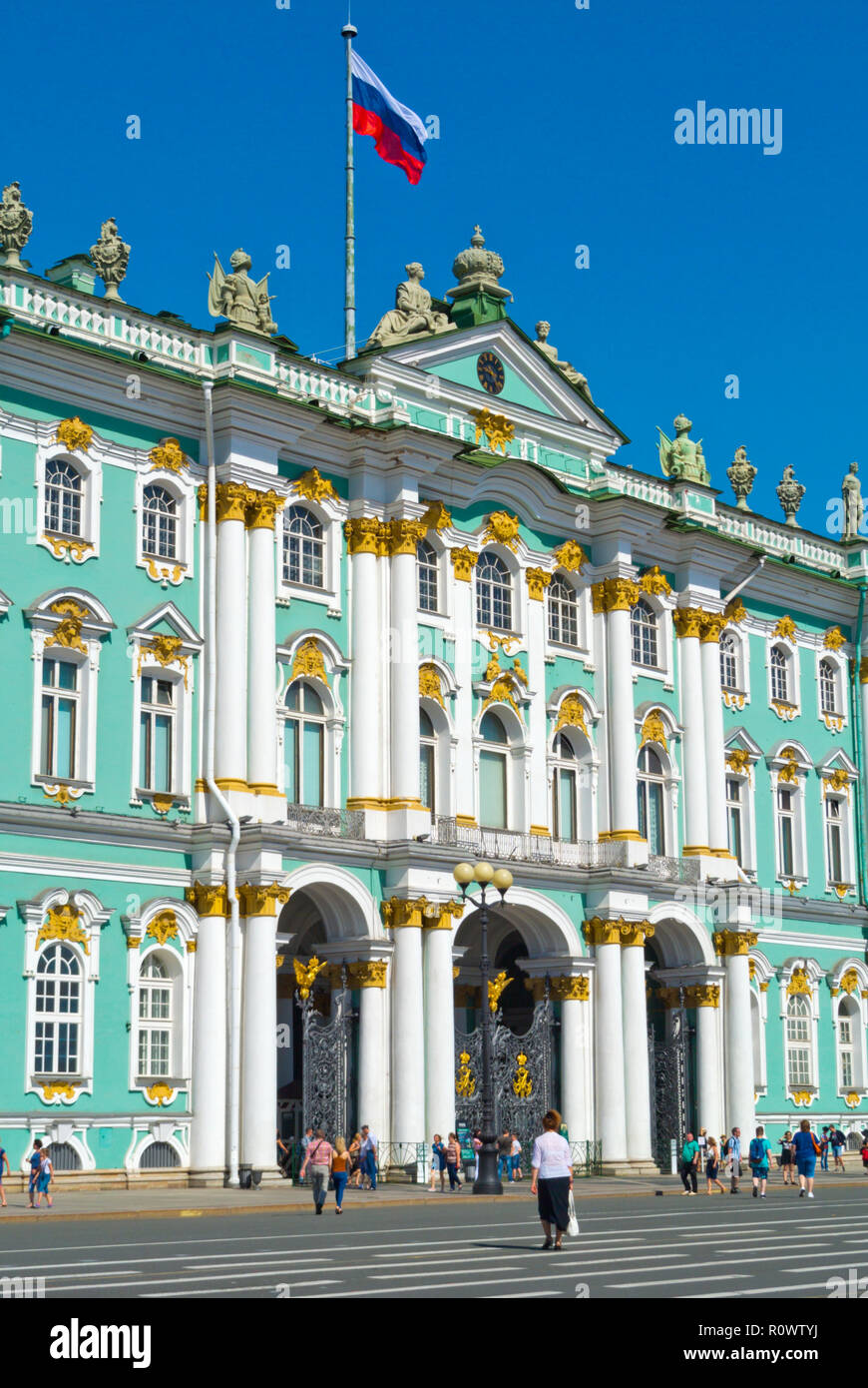 Winter Palace, Palace Square, Saint Petersburg, Russia - Stock Image