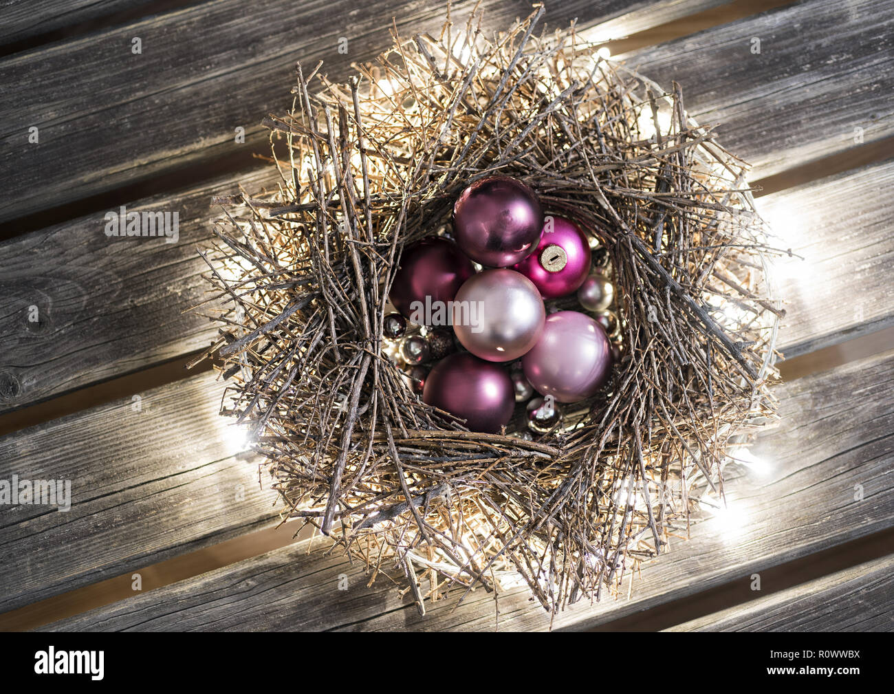 Kranz Christbaumkugeln.Advent Kranz Stock Photos Advent Kranz Stock Images Alamy