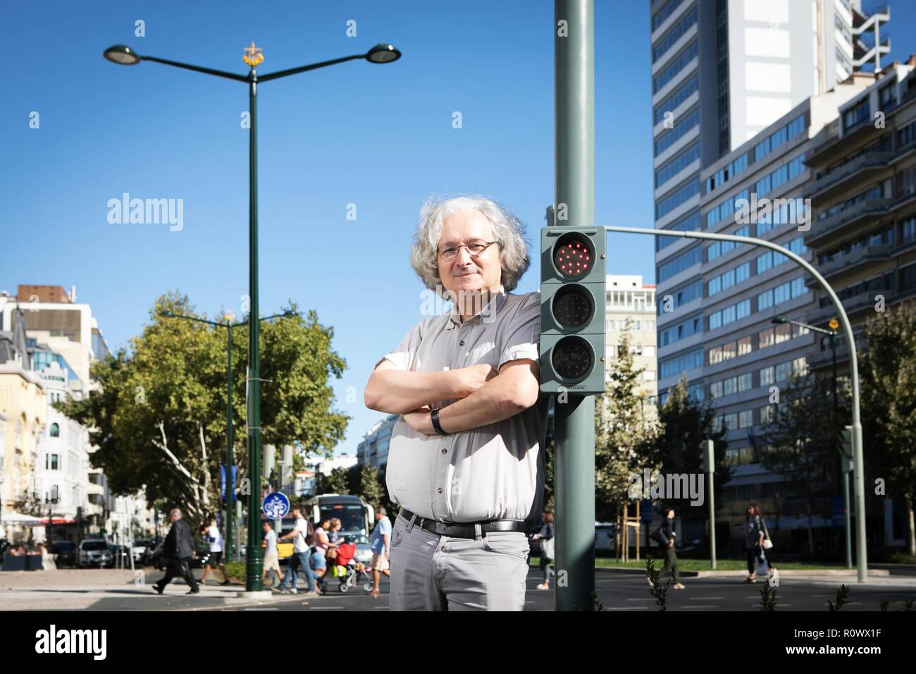 Portrait of Etienne Ghys, a French mathematician. - Stock Image