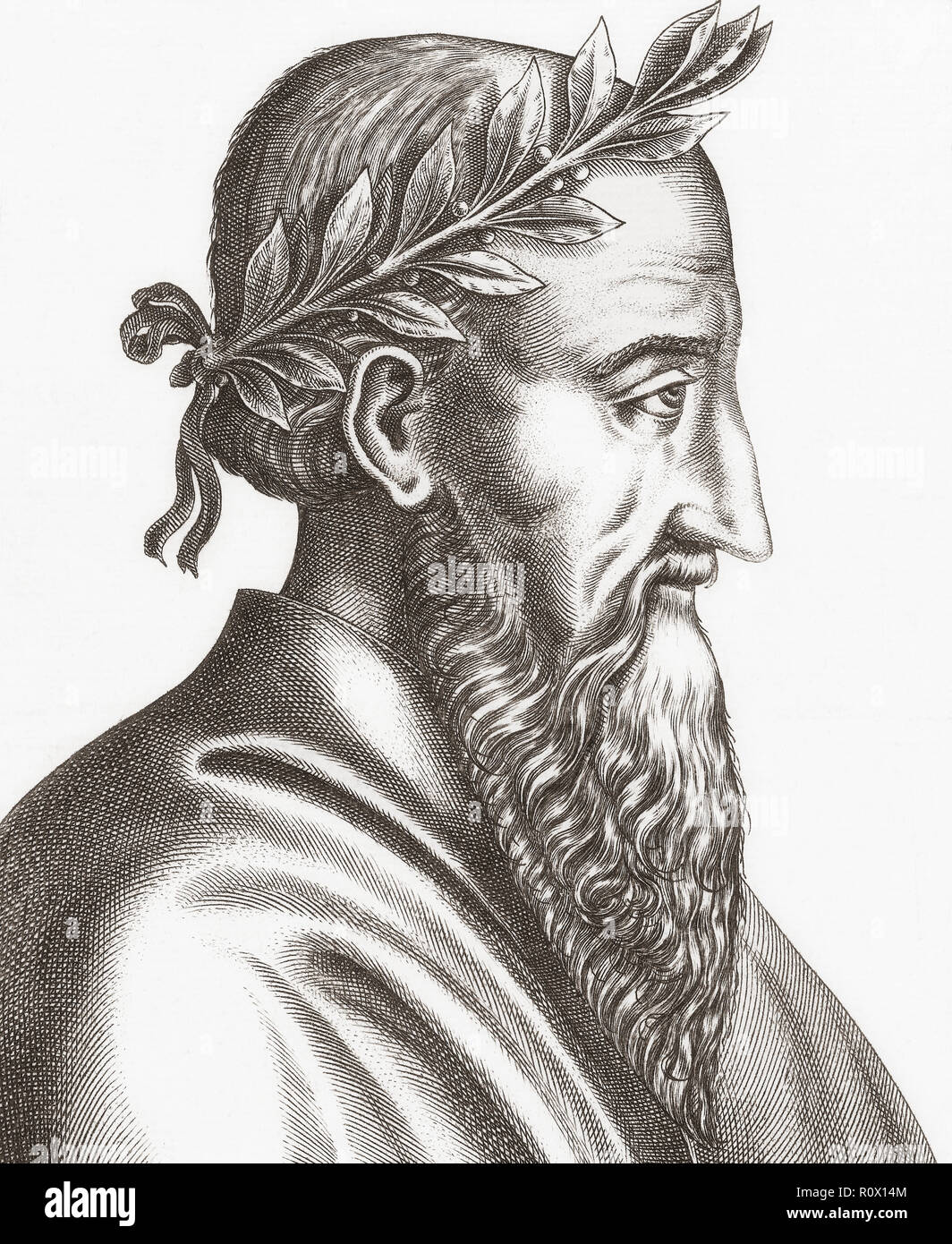 Zeno of Citium, 334-262 BC. Cypriot philosopher.  Founder of the philosophical school known as Stoicism. - Stock Image