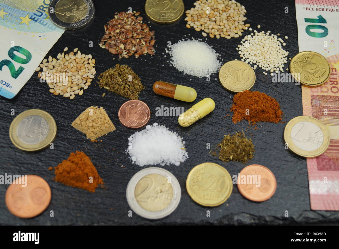Big Business with dietary supplements - Stock Image