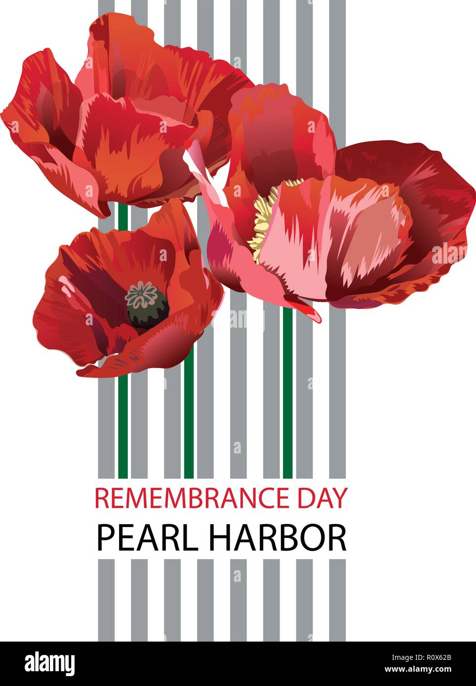 Vector illustration of a Banner for Pearl Harbor Remembrance Day. - Stock Vector