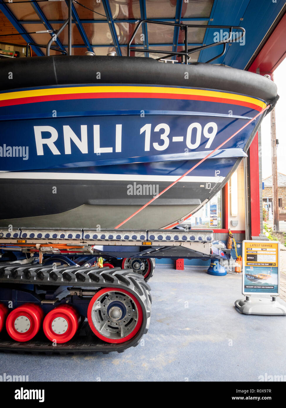 TheRNLI lifeboat at Ilfracombe Devon UK - Stock Image