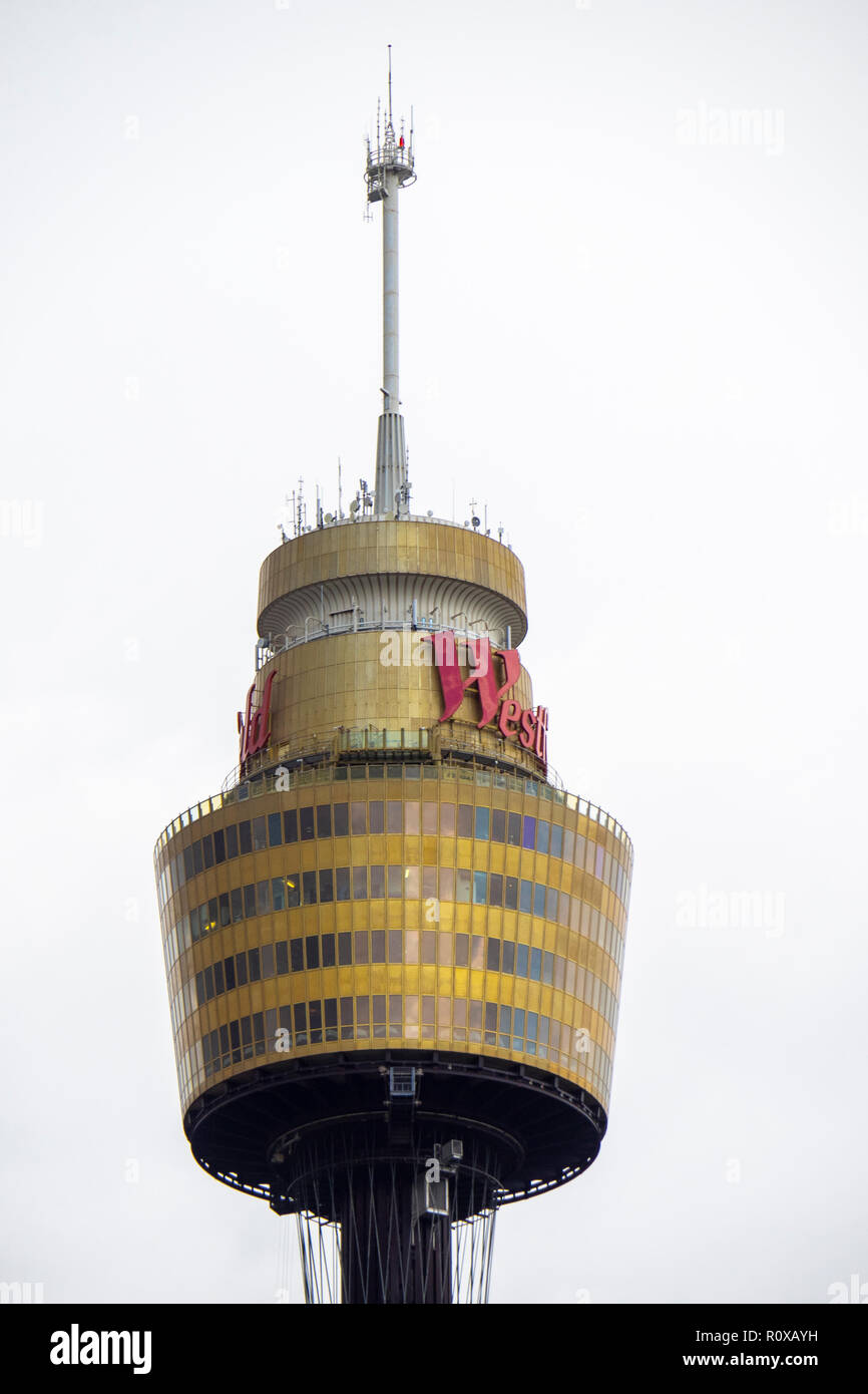 Observation deck levels of the Sydney Westfield Tower NSW Australia. - Stock Image