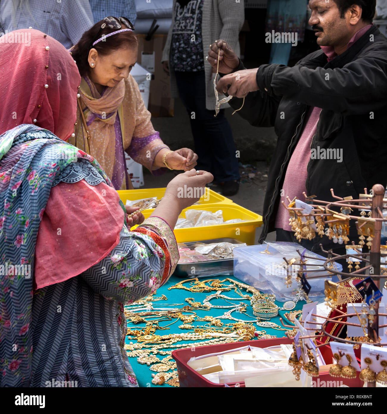 southall open air market, Southall, London ,England - Stock Image