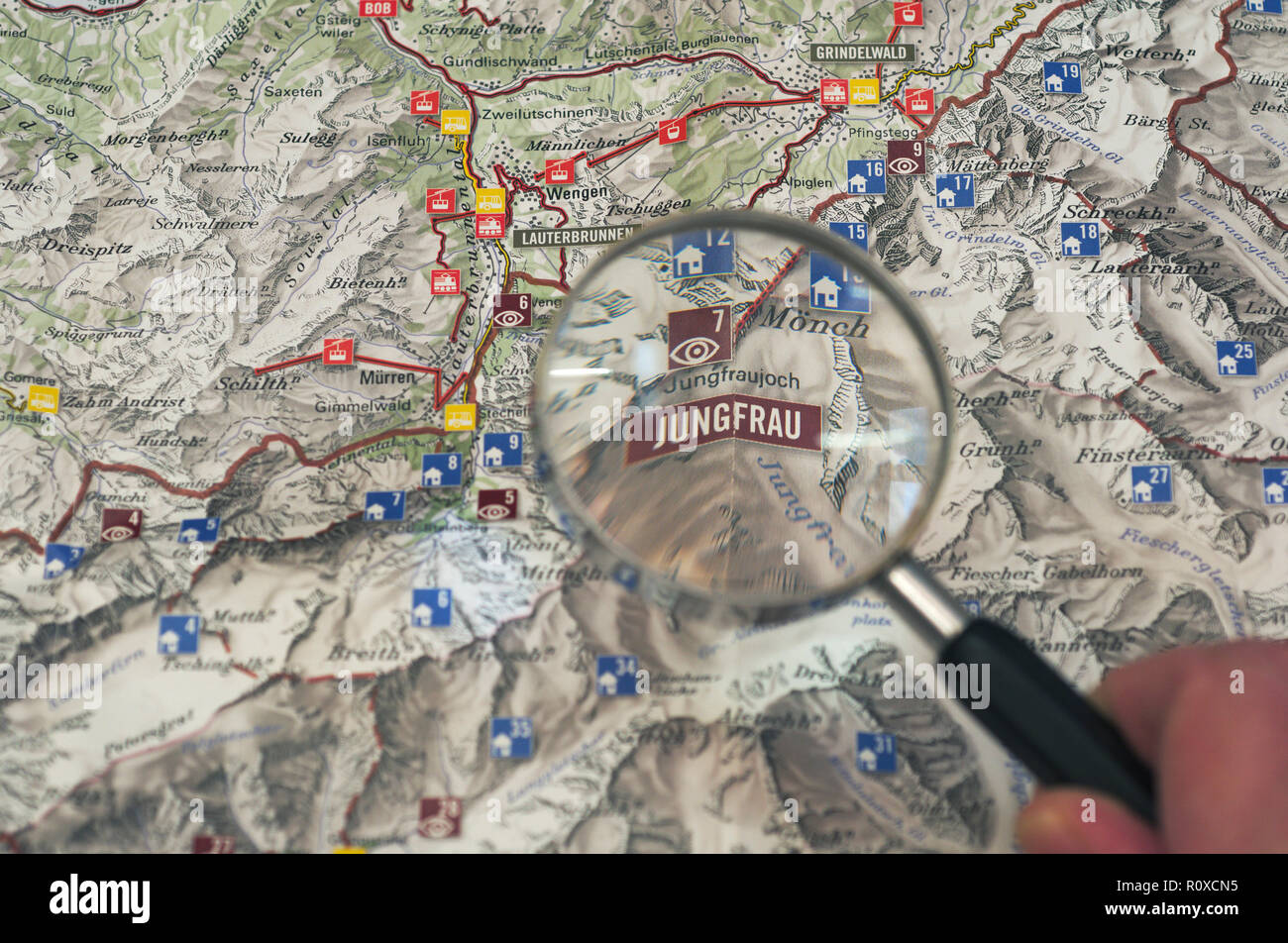 Magnifying Gl over Jungfrau Map Stock Photo: 224315537 ... on frankfurt map, chianti wine map, london map, germany map, jungfraujoch train map, top of europe map, central europe map, swiss map, zermatt map, lugano map, western europe map, matterhorn map, interlaken map, vatican city map, bern map, st. moritz map, barcelona map, indo-pacific map, sub-saharan map, pennine alps map,