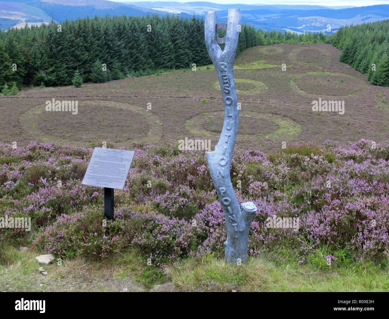 The Point of Resolution, Minch Moor, Borders County, Scotland, UK in August Stock Photo