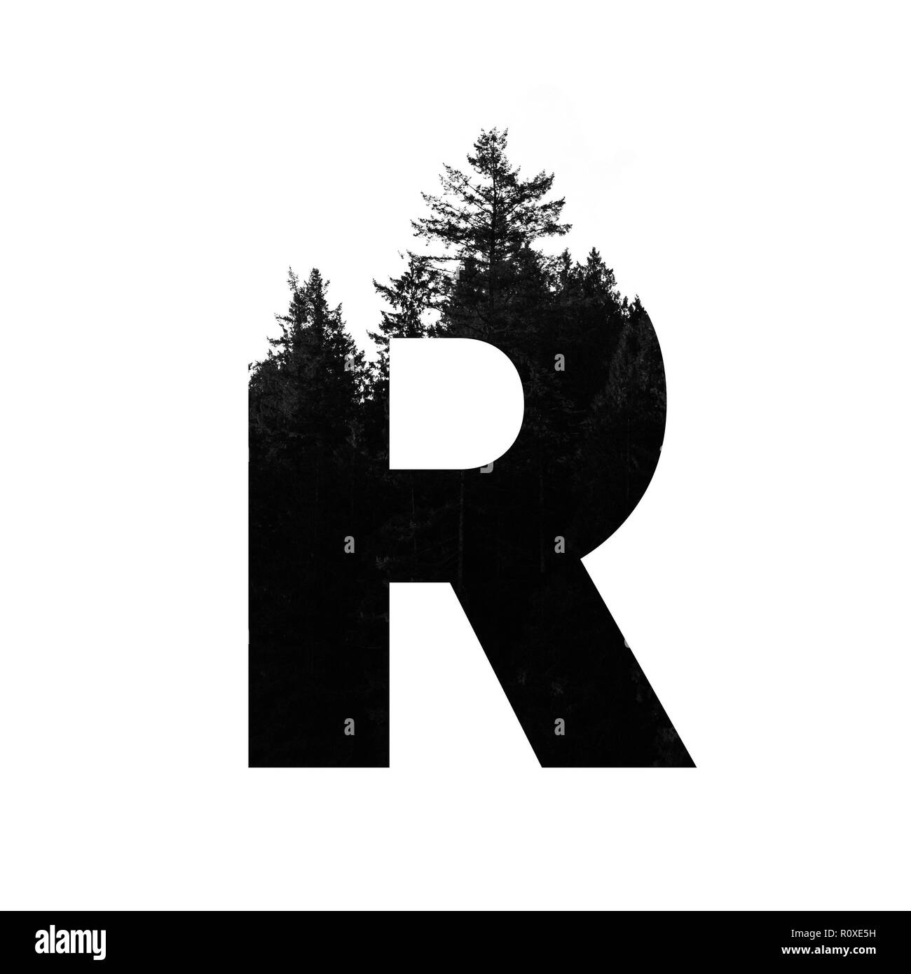 letter r black and white stock photos & images - page 3 - alamy