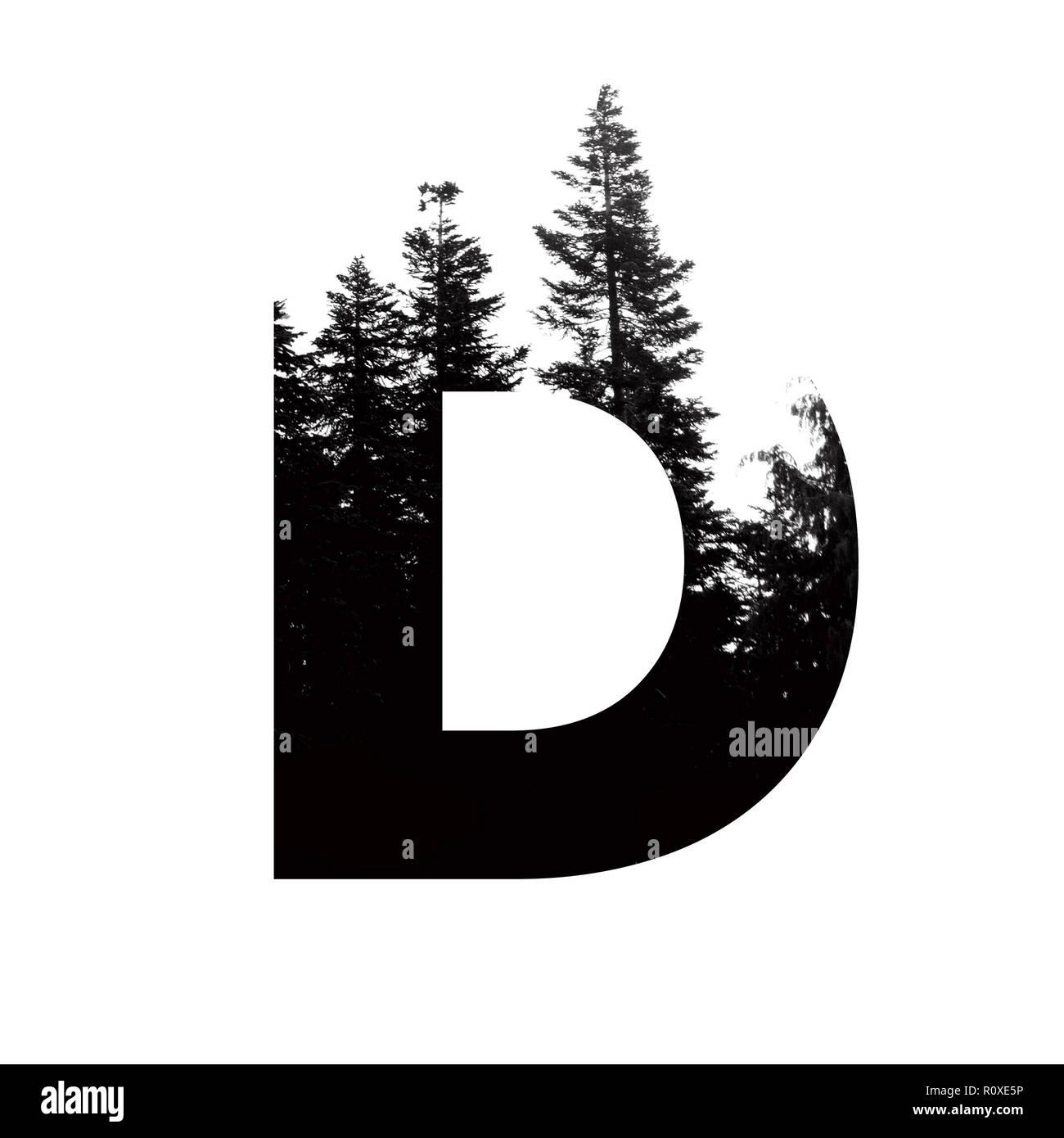 Letter D hipster wilderness font lettering. Outdoor ...