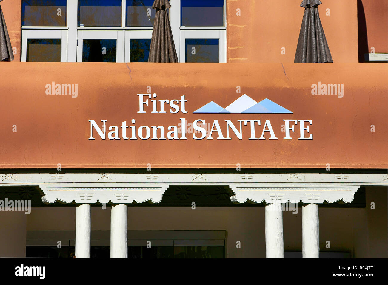 The First National Savings Bank Of Santa Fe On The Plaza In Santa Fe