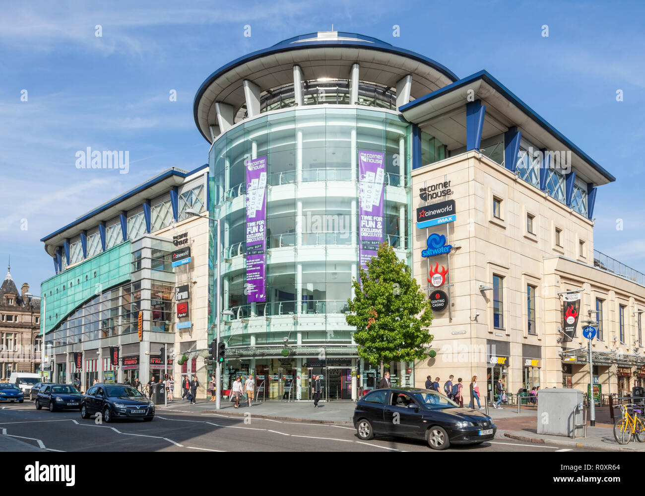 The Corner House, a Cineworld multiplex cinema with bars and restaurants in Nottingham, England, UK - Stock Image