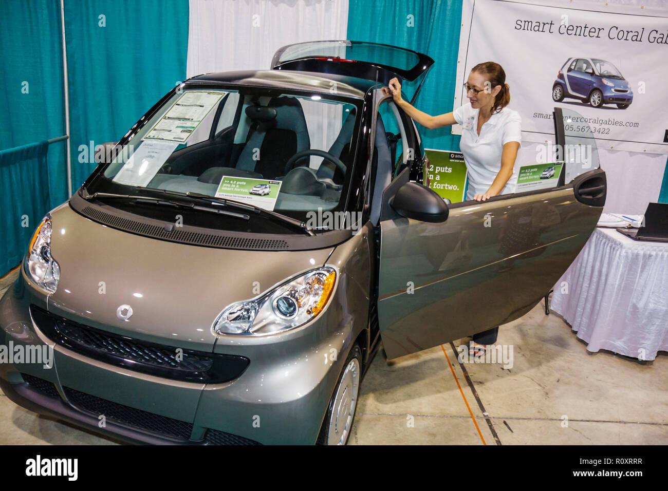 Miami Beach Florida Convention Center centre MiaGreen Expo & Conference green event trade show energy fuel efficient exhibitor e - Stock Image