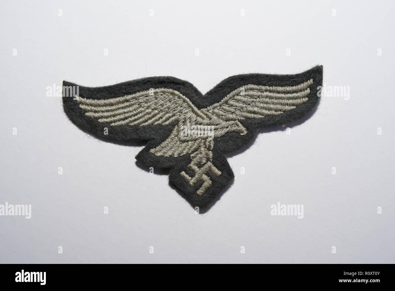 Second World War German Nazi Luftwaffe eagle and swastika cloth