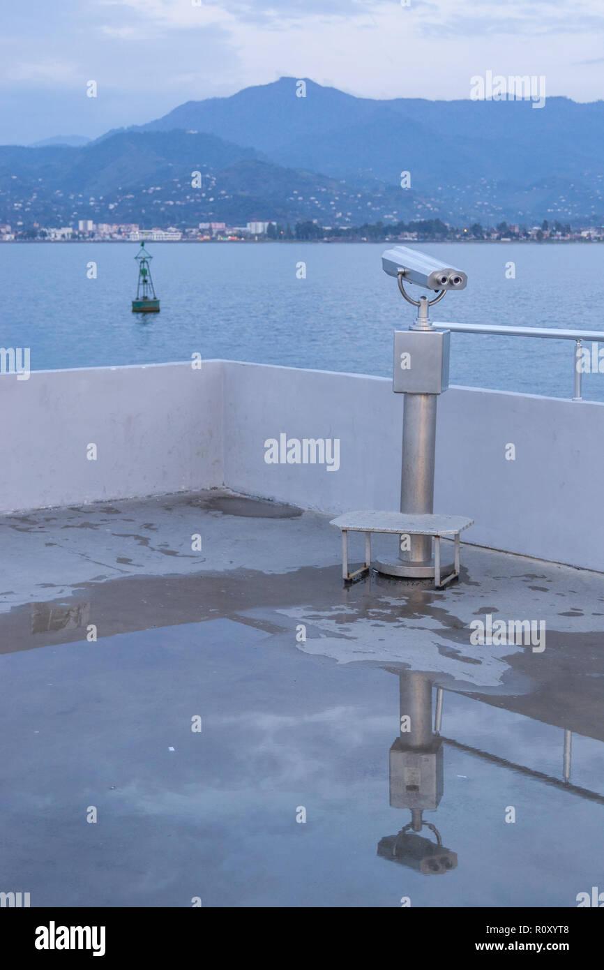 A viewpoint at the coast of the Resort Batumi Georgia - Stock Image