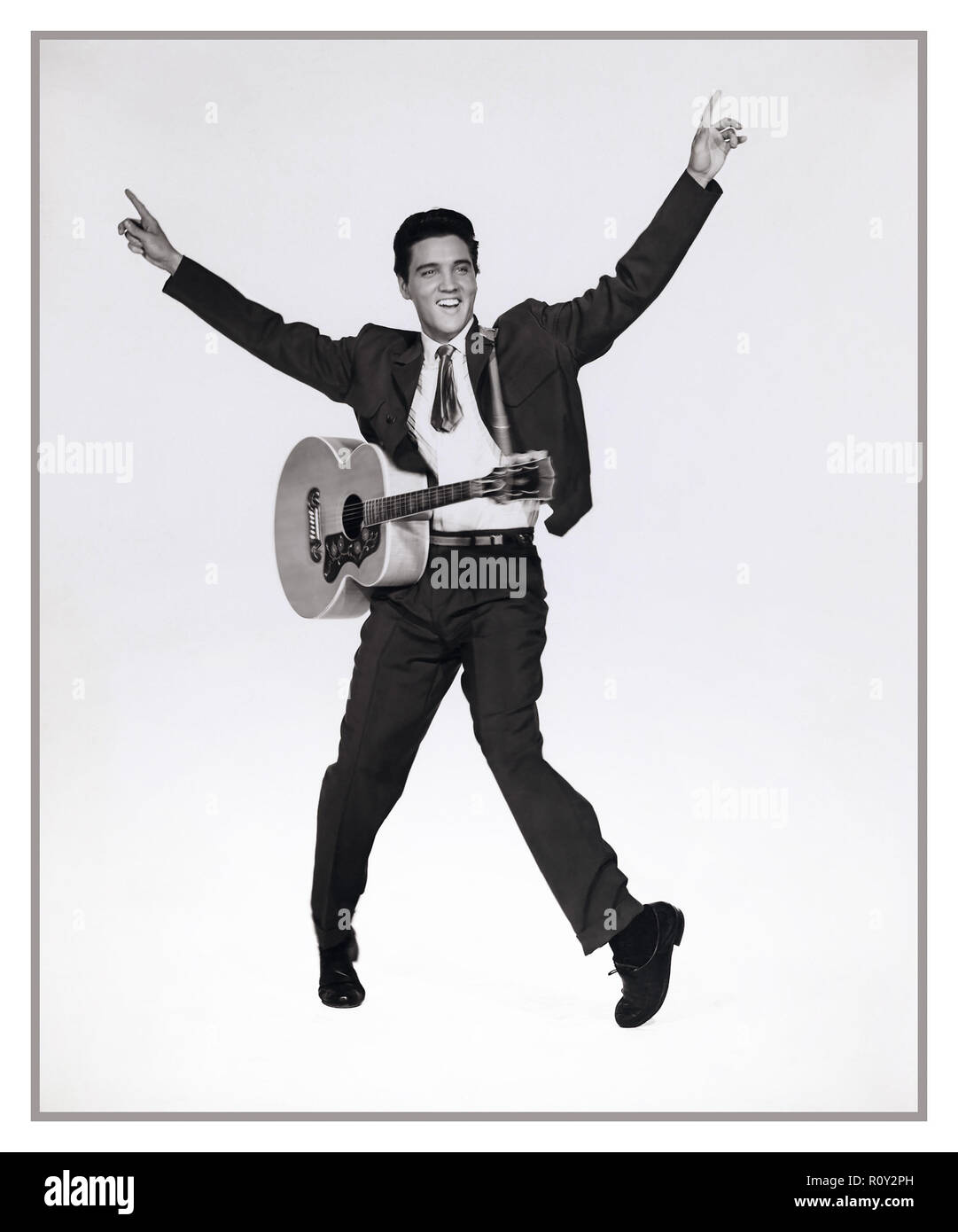 ELVIS PRESLEY film still from King Creole 1958 (A rebellious young man takes a job as a nightclub singer to make ends meet, attracting the attention of a local crime boss etc...) - Stock Image