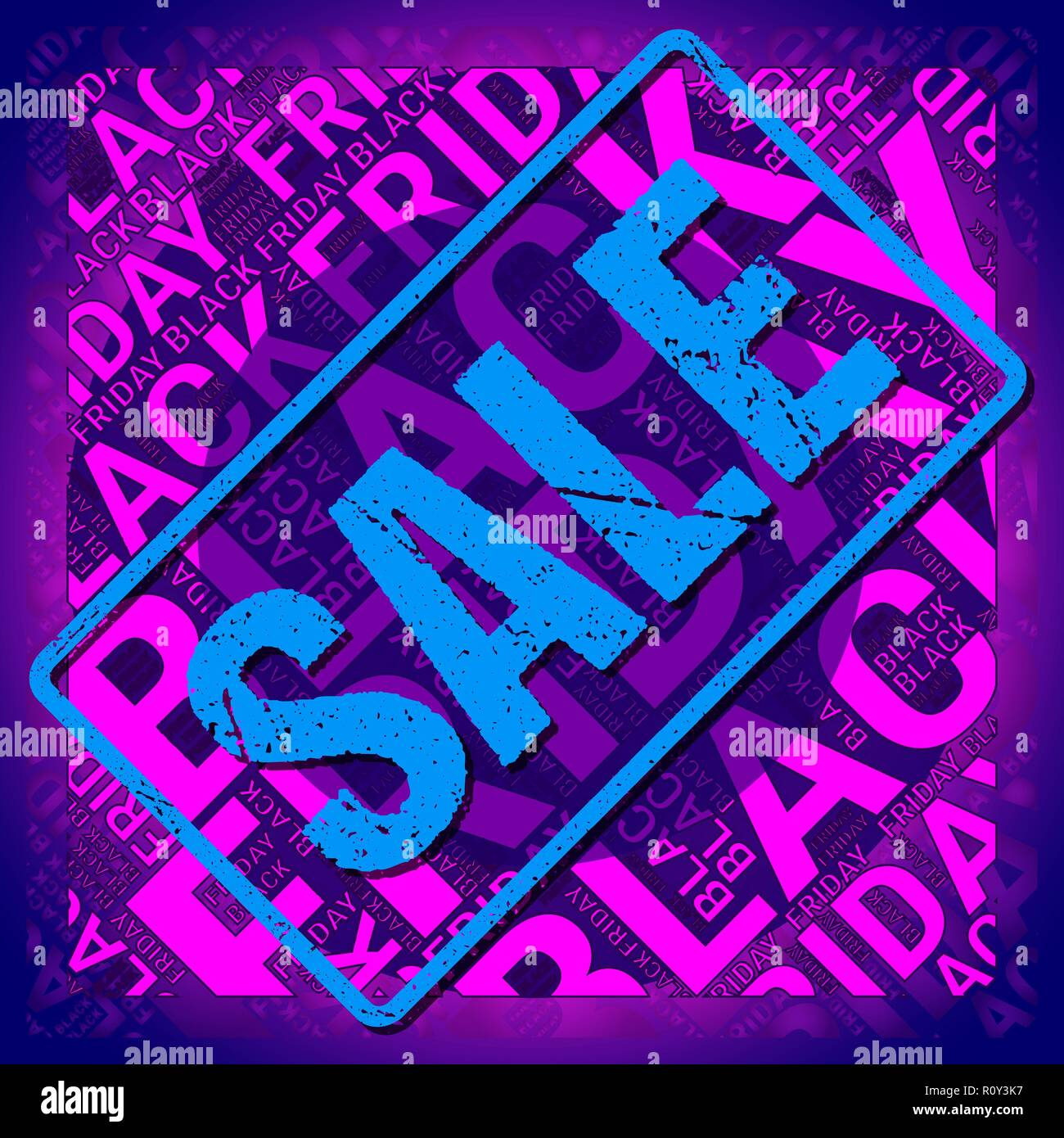Black Friday Wordcloud. Typography concept. Text cloud. Vector illustration Stock Vector