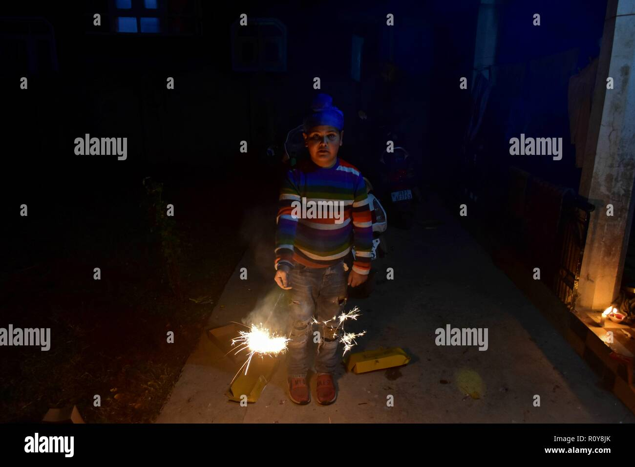 Lighting Up November Darkness >> November 7 2018 Srinagar J K India A Boy Seen Lighting Up A