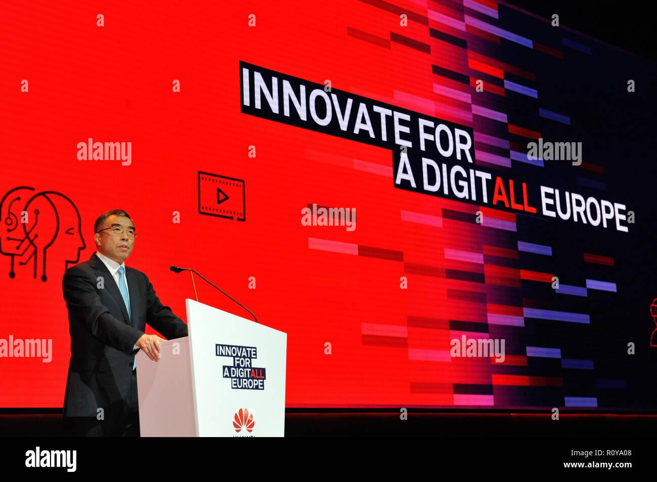 Rome, Italy  7th Nov, 2018  Huawei Chairman Liang Hua