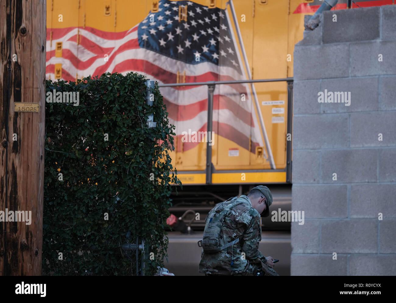 Nogales, Arizona, USA  7th Nov, 2018  The US Army laying