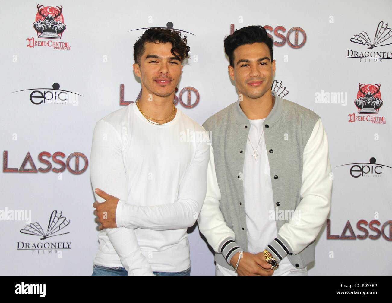 Hollywood, California, USA. 6th Nov, 2018. I16016CHW.Dread Central Presents The Premiere Of 'LASSO' .TCL Chinese 6 Theatres, Hollywood, California, USA .11/06/2018 .ANDREW JACOBS AND RAY DIAZ . © Clinton H.Wallace/Photomundo International/ Photos Inc Credit: Clinton Wallace/Globe Photos/ZUMA Wire/Alamy Live News - Stock Image