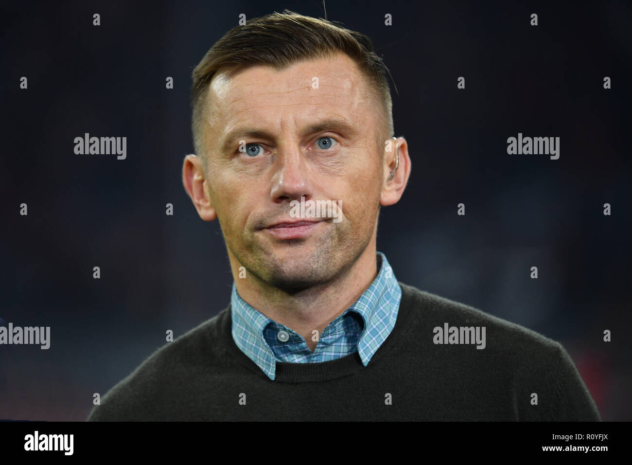 Munich, Deutschland. 07th Nov, 2018. Ivica OLIC (former professional football player), single picture, one-on-one cut, portrait, portrait, portrait. FC Bayern Munich (M) - AEK Athens FC (Athens) 2-0, Football Champions League, Group E, on 07/11/2018. ALLIANZAREN A. DFL REGULATION PROHIBIT ANY USE OF PHOTOGRAPH AS IMAGE SEQUENCES AND/OR QUASI VIDEO. | usage worldwide Credit: dpa/Alamy Live News - Stock Image