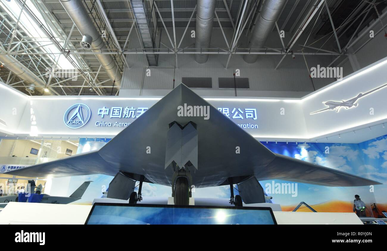 Zhuhai, Zhuhai, China. 8th Nov, 2018. Zhuhai, CHINA-The CH-7 Airplane can be seen at Zhuhai Air Show in Zhuhai, south Guangdong Province. Credit: SIPA Asia/ZUMA Wire/Alamy Live News - Stock Image