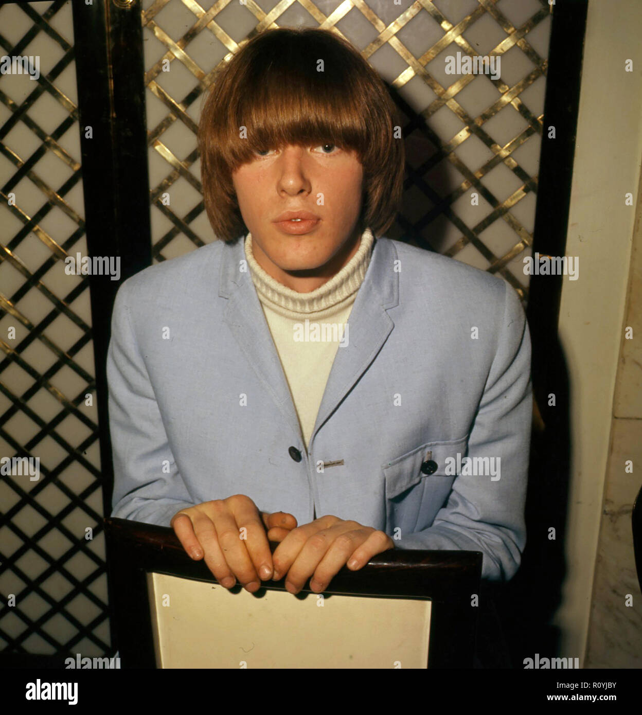 THE BYRDS American rock group with drummer Michael Clarke  about 1968 - Stock Image