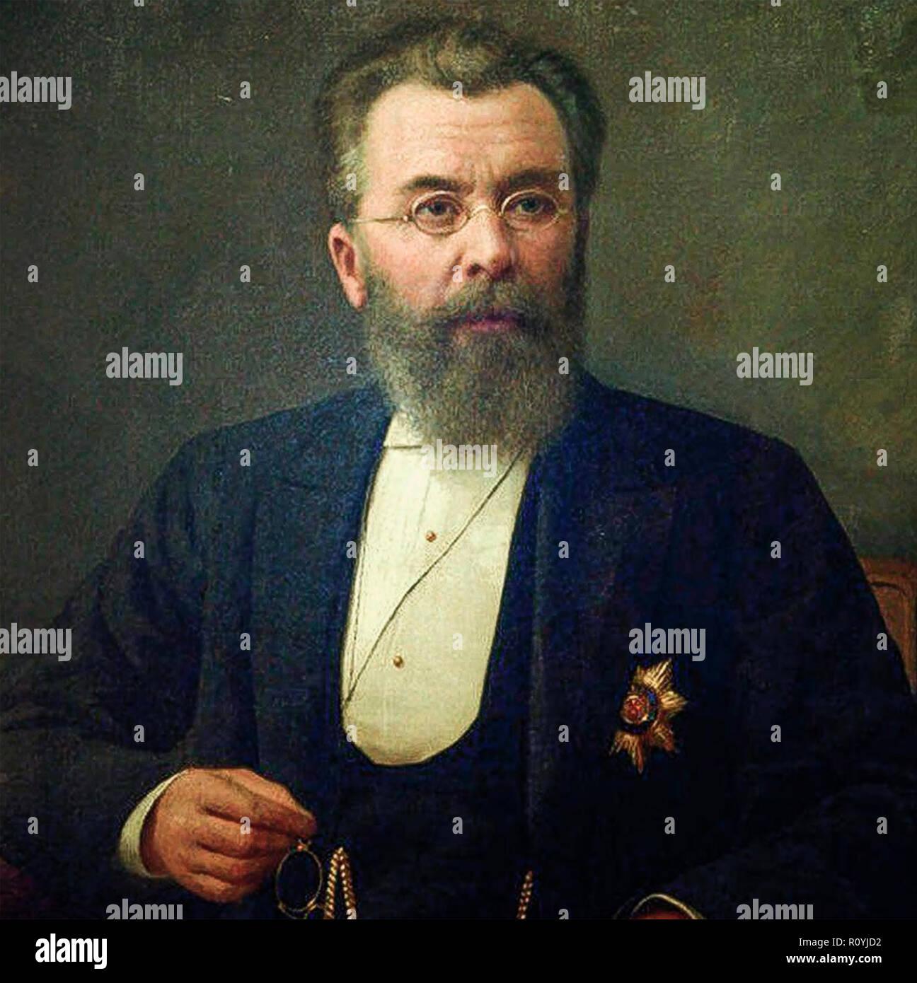 NIKOLAI SKLIFOSOVSKY (1836-1904) Russian surgeon and physiologist - Stock Image