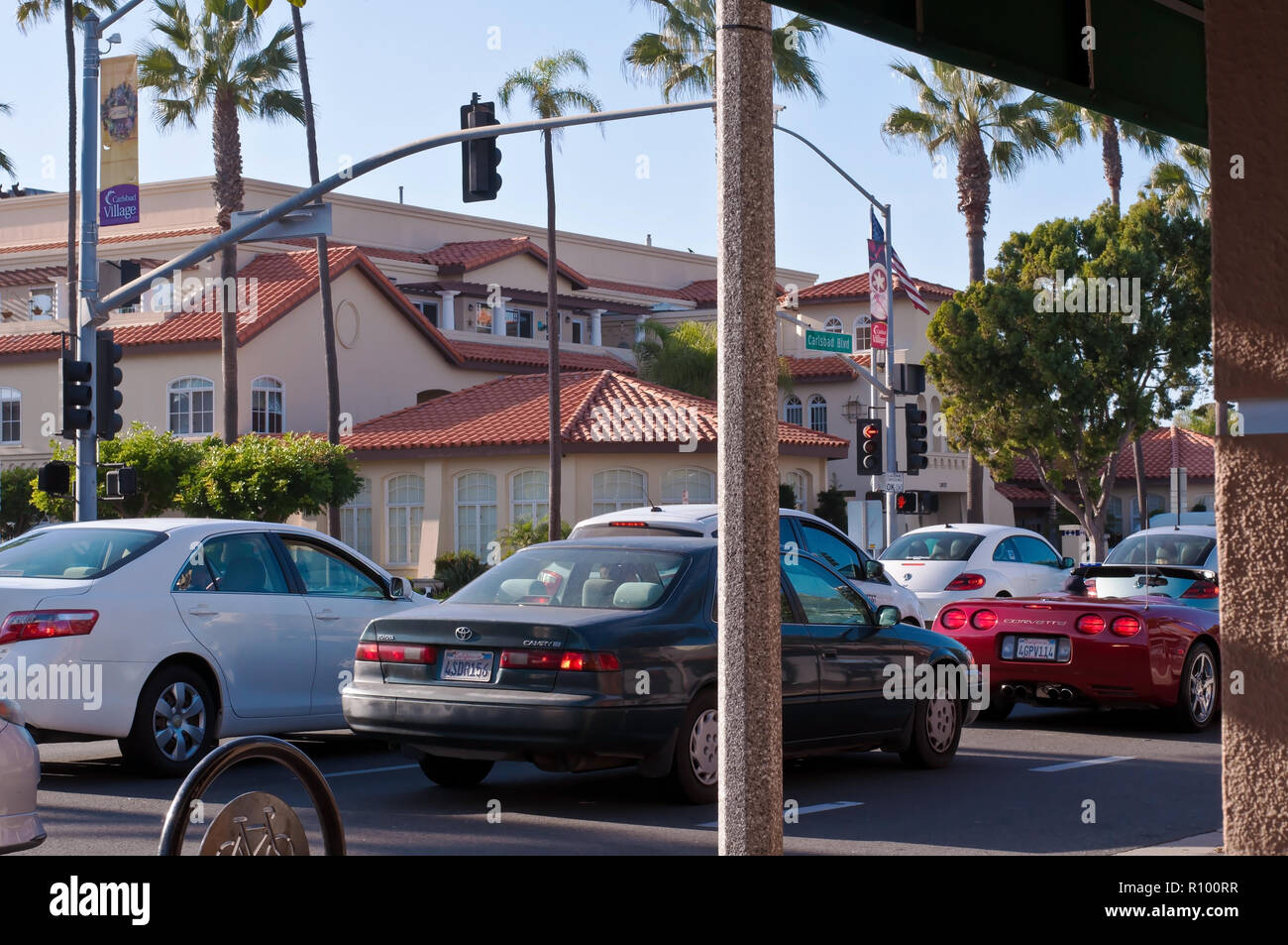 Traffic in Carlsbad, California, USA - Stock Image