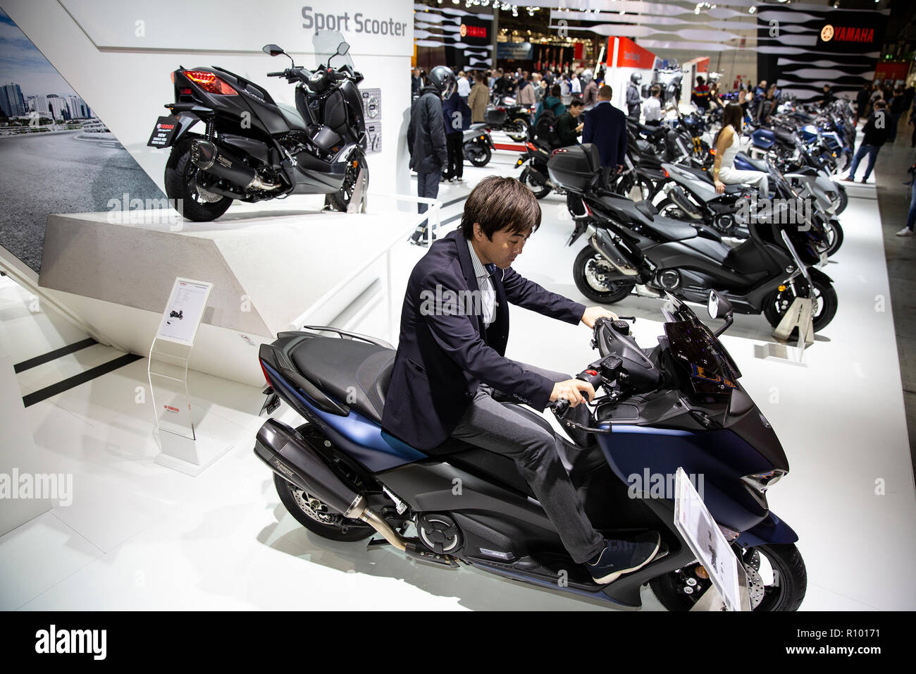 EICMA 2018 cycle and motorcycle expo at Milano Italy - Stock Image