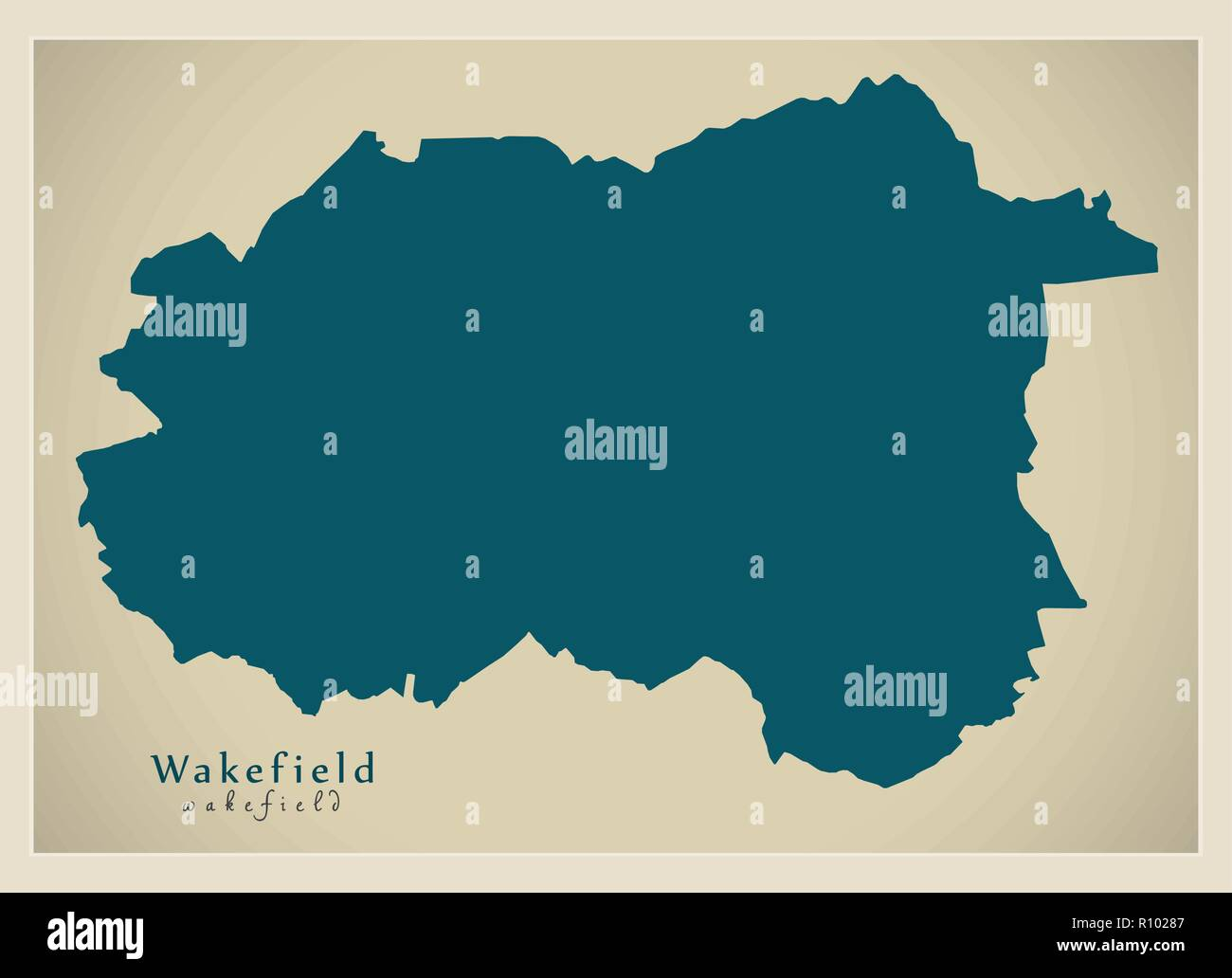 City Map Of England.Modern City Map Wakefield City Of England Uk Stock Vector Art