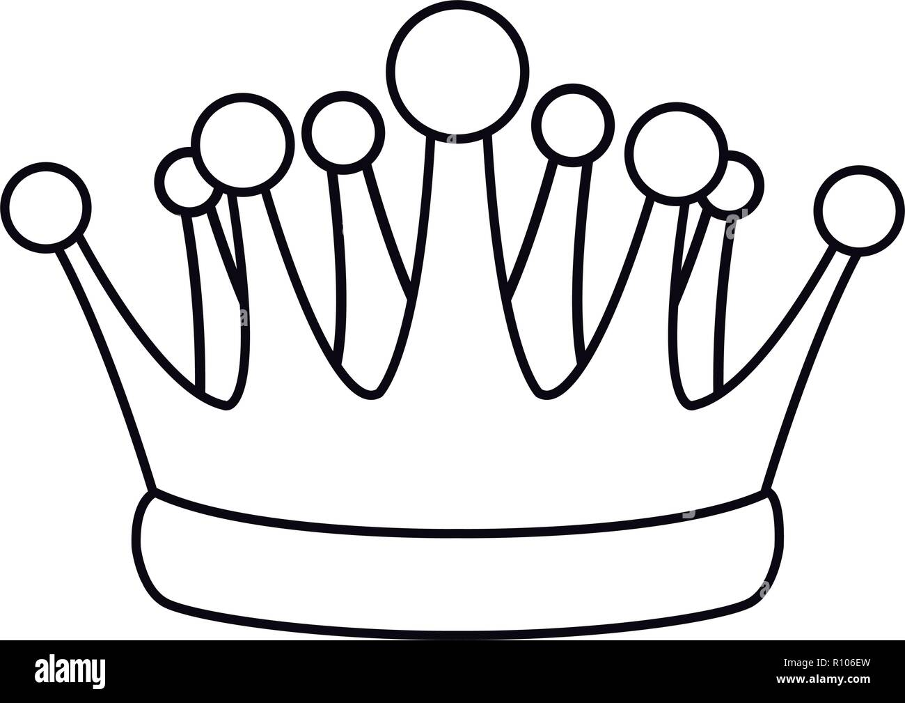 Pop Art Crown Cartoon In Black And White Stock Vector Image Art Alamy 1024 x 912 jpeg 229 кб. https www alamy com pop art crown cartoon in black and white image224354561 html