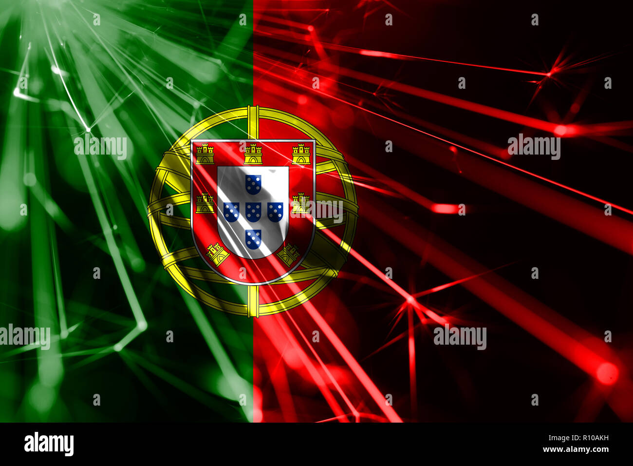 Christmas In Portugal 2019.Portugal Shining Fireworks Sparkling Flag New Year 2019 And