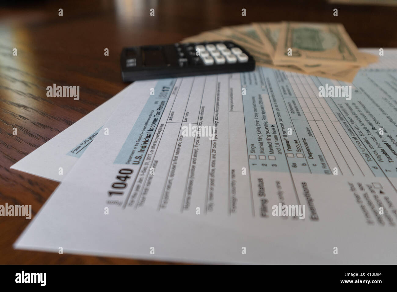 Us Tax Form And Calculator With Used To Calculate Tax Refund Stock