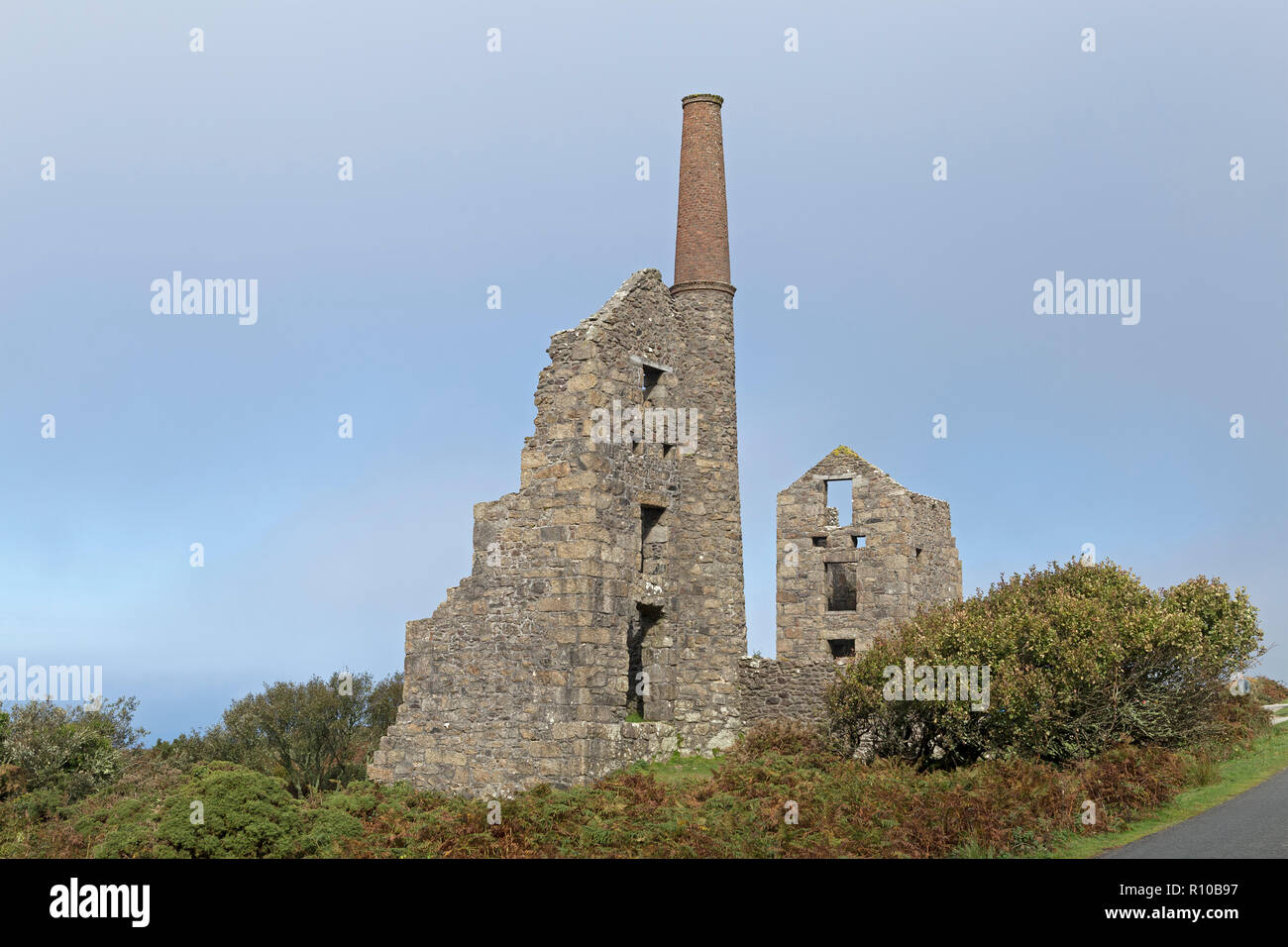 Carn Galver tin mine, Rosemergy, Cornwall, England, Great Britain - Stock Image