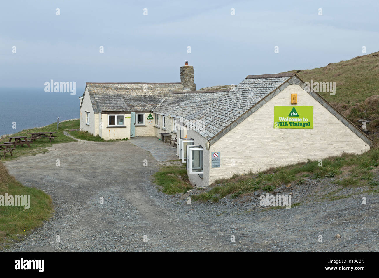 youth hostel, Tintagel, Cornwall, England, Great Britain - Stock Image