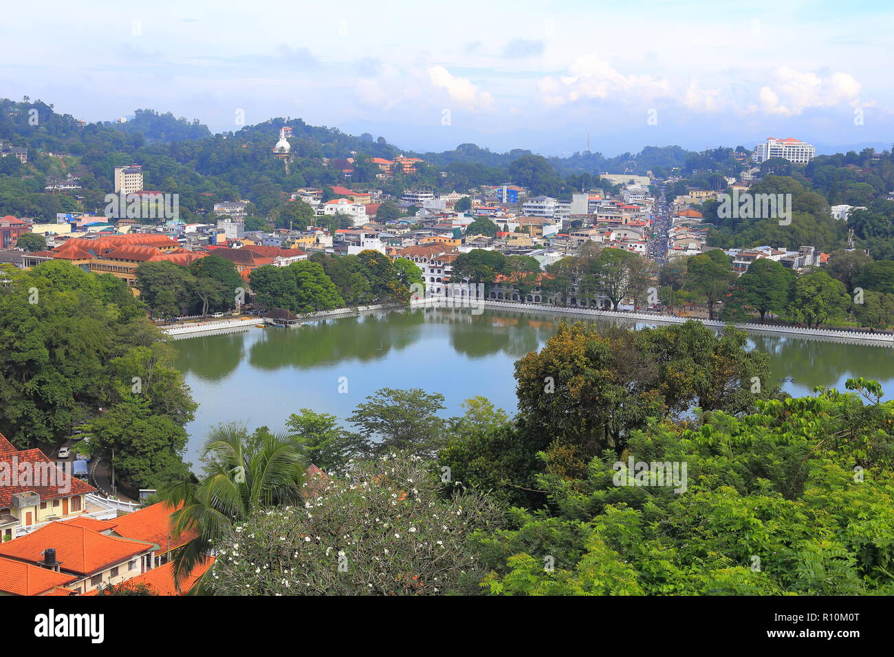 The Town of Kandy , Srilanka. - Stock Image