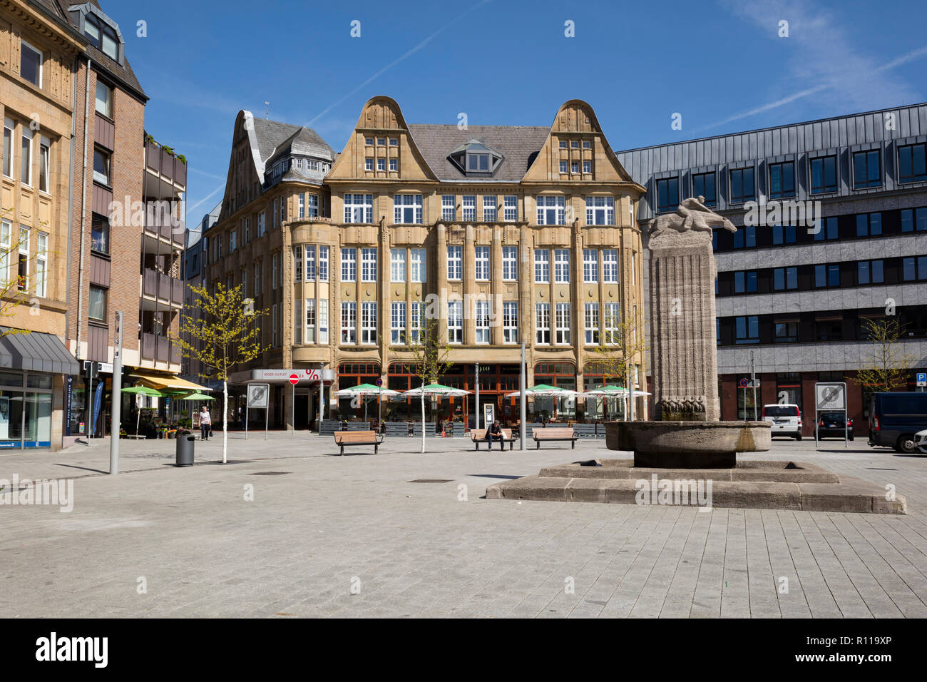 Old town of Castrop-Rauxel, Ruhr district, North Rhine-Westphalia, Germany, Europe - Stock Image