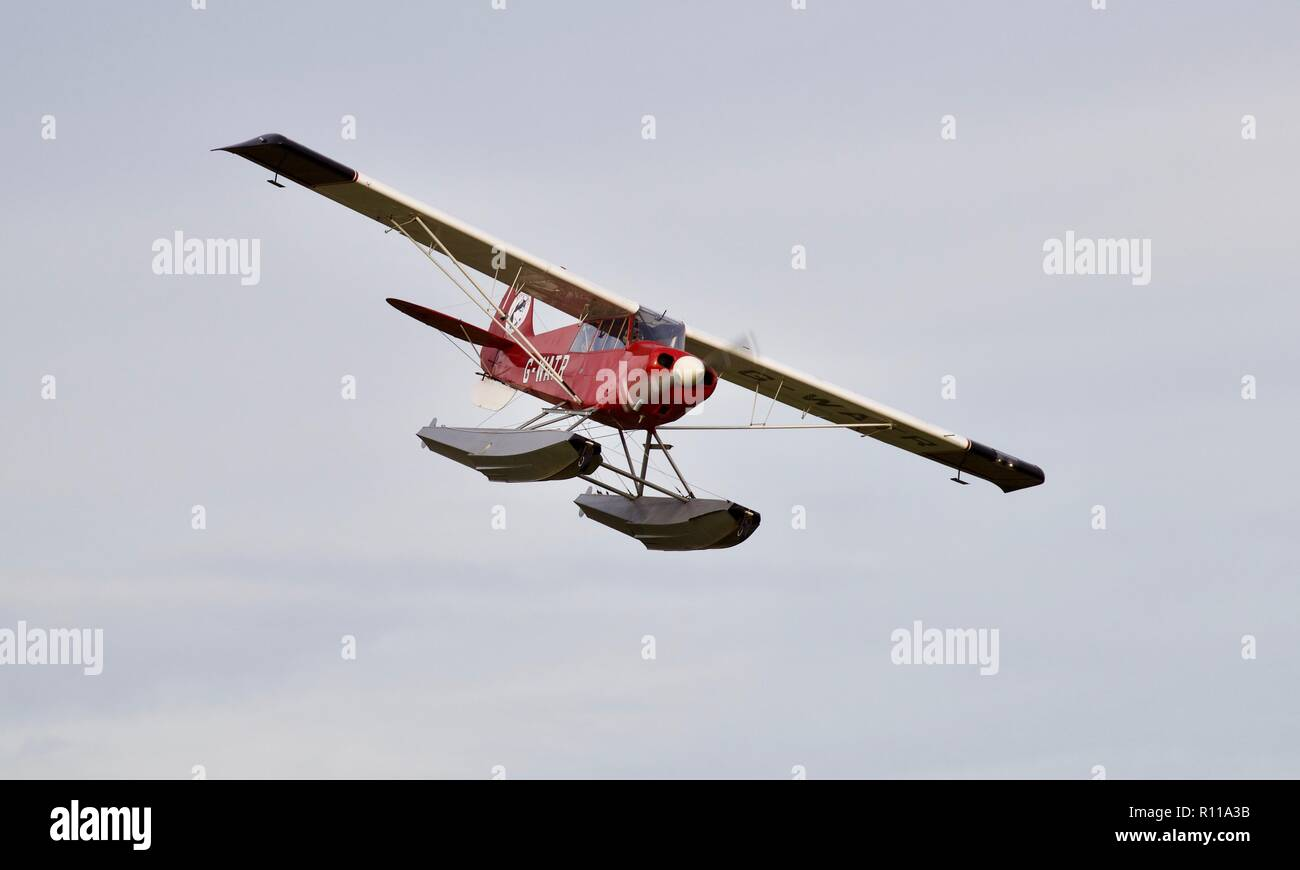 Aviat Husky-A-1 seaplane (G-WATR) - Stock Image