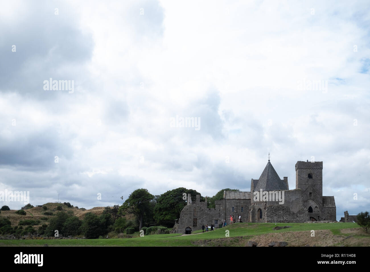 Inchcolm Abbey, Inchcolm, Fife, Scotland - Stock Image