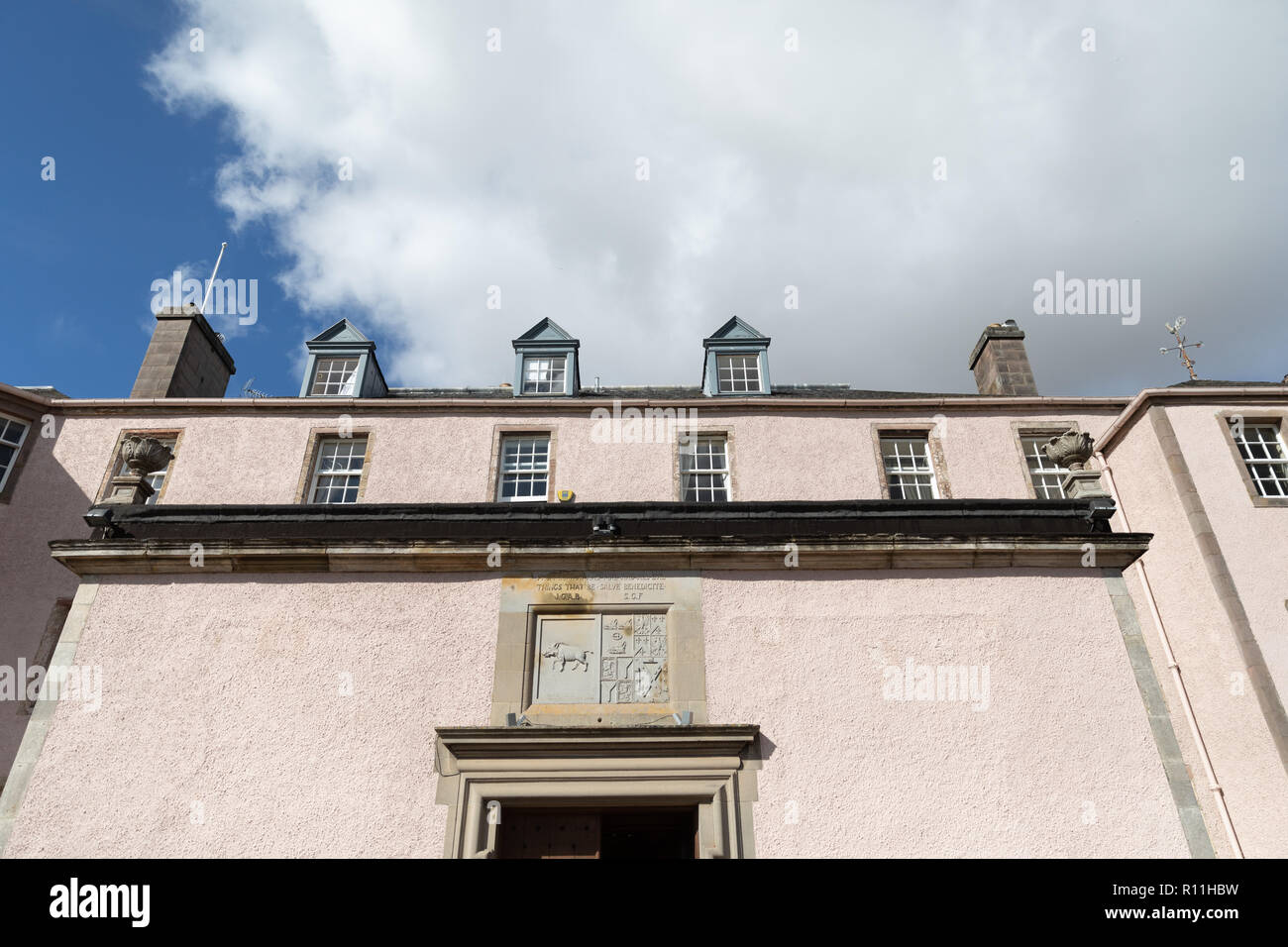 Looking up at Colstoun House, Haddington - Stock Image