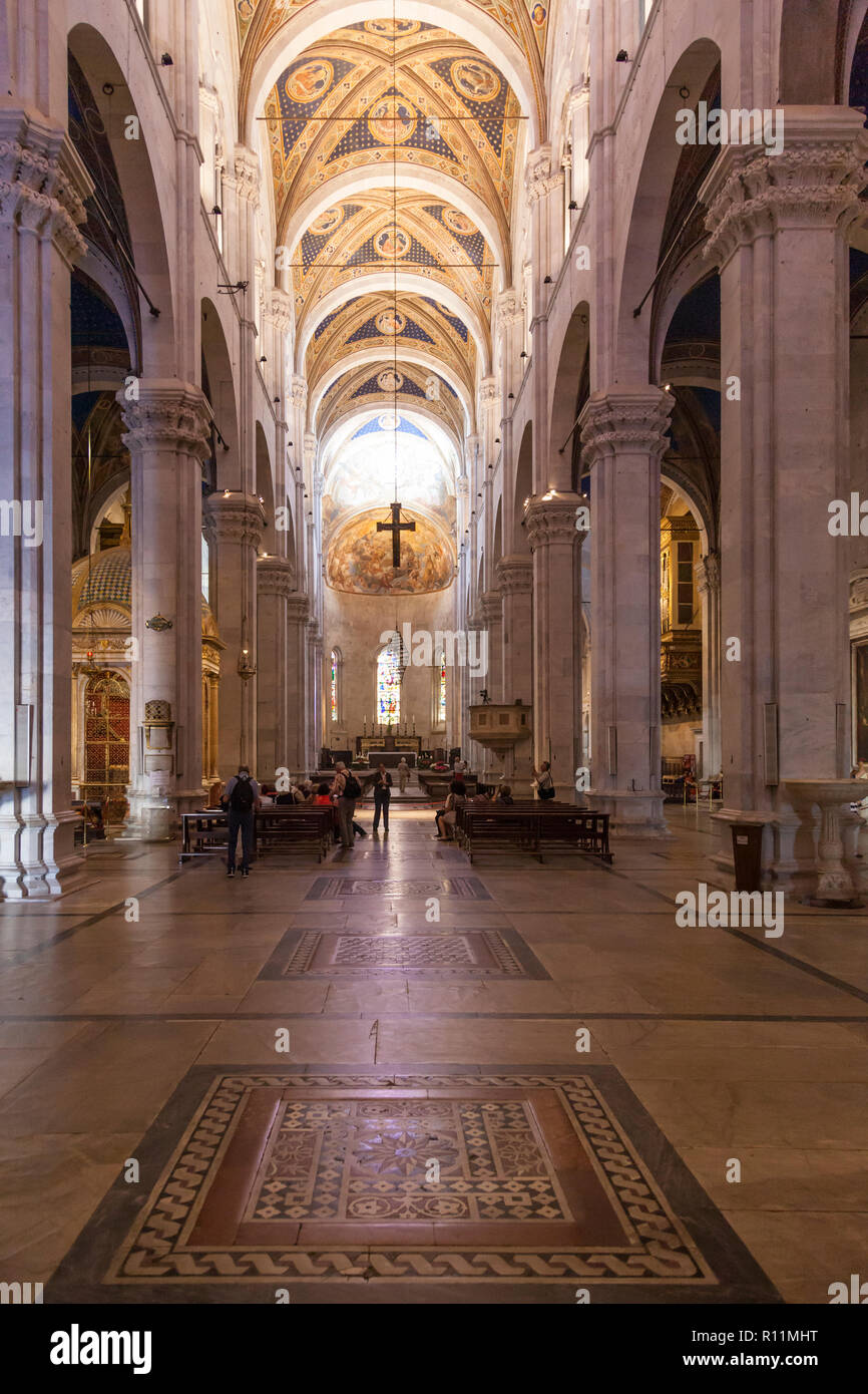 Inside The Duomo Di Lucca Cattedrale Di San Martino Or Cathedral Of St Martin A Magnificent 13th Century Building Stock Photo Alamy