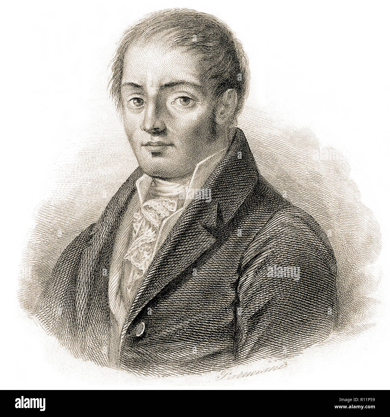Francesco Mario Pagano, (Brienza, 8 December 1748 - Naples, 29 October 1799) was an Italian jurist, philosopher, politician and playwright. He was one of the greatest exponents of Italian Enlightenment and a precursor of positivism, - Stock Image