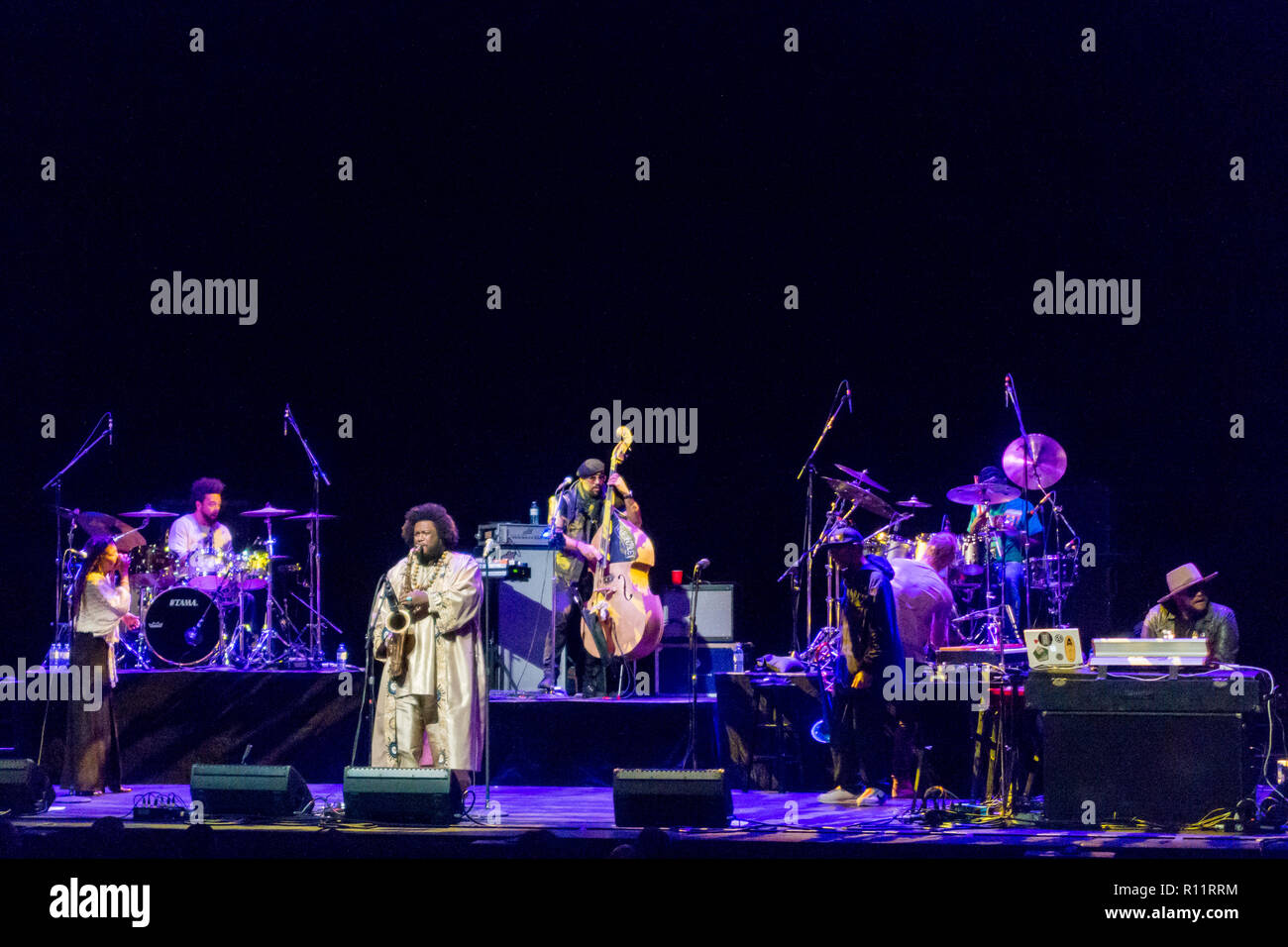 Toronto, Canada - Nov 5, 2018: Kamasi Washington live at Sony Centre. Toronto, Canada - Stock Image
