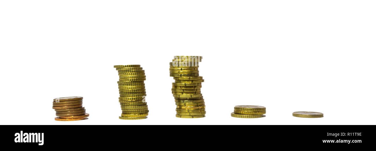 Einkommen Verteilung Deutschland Euro Pyramide - Stock Image