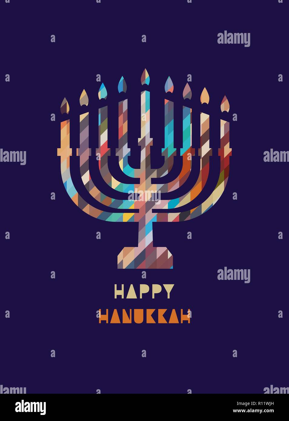 Happy Hanukkah holiday Stock Vector
