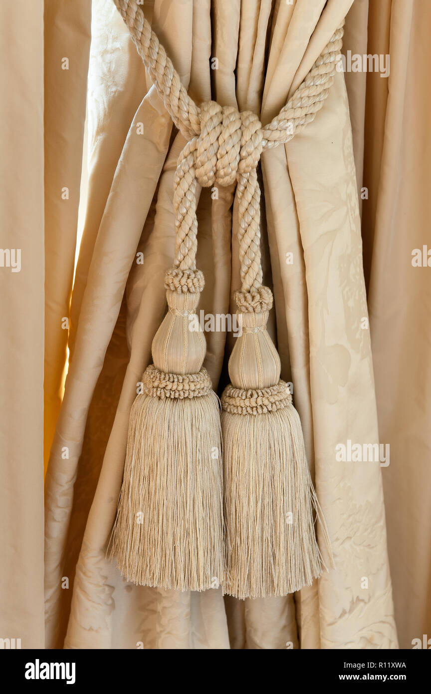 Curtain Tie Back Tassel High Resolution Stock Photography And Images Alamy