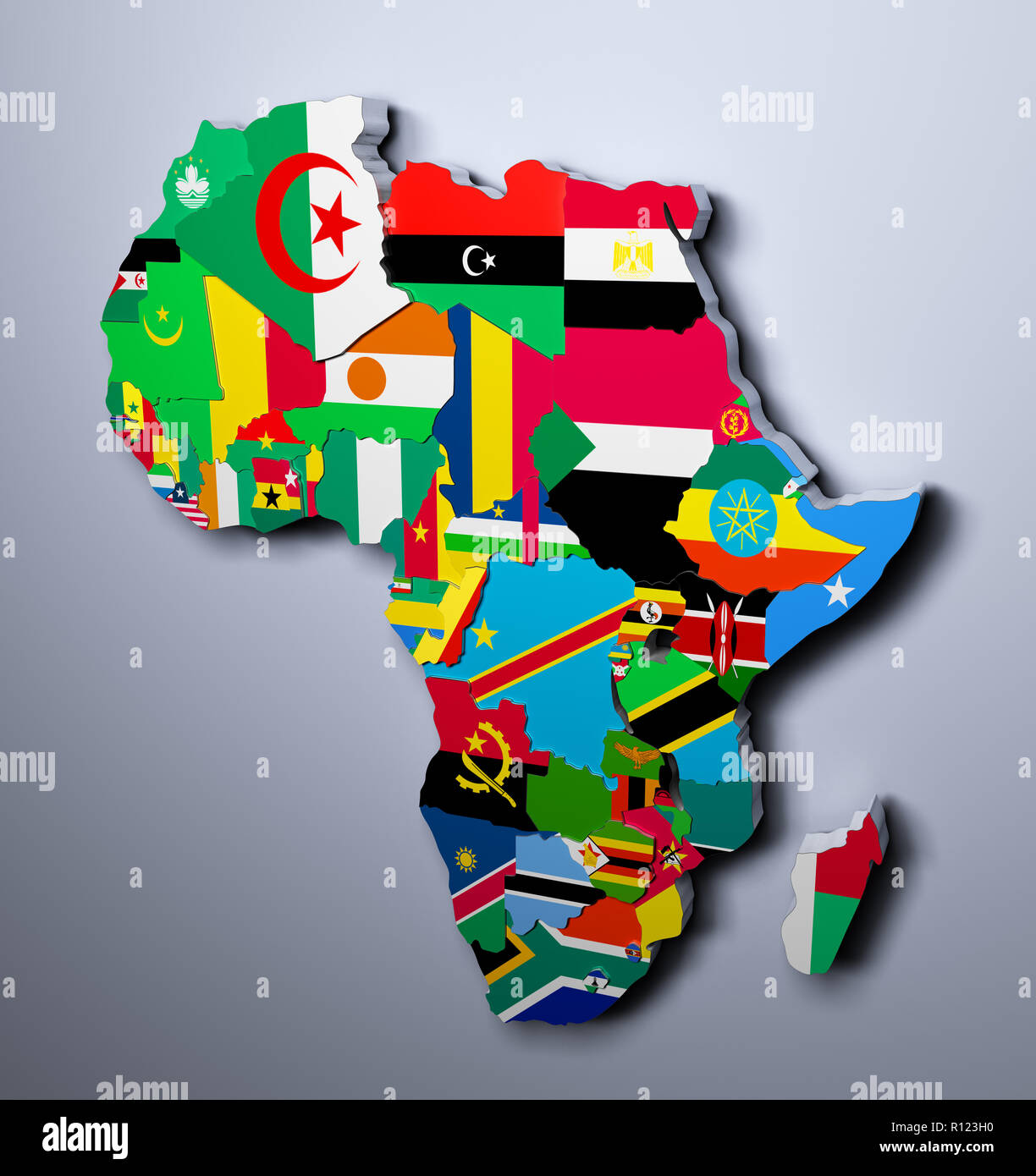 Map Of Africa With Flags.South Africa Map Illustration Flags Stock Photos South Africa Map