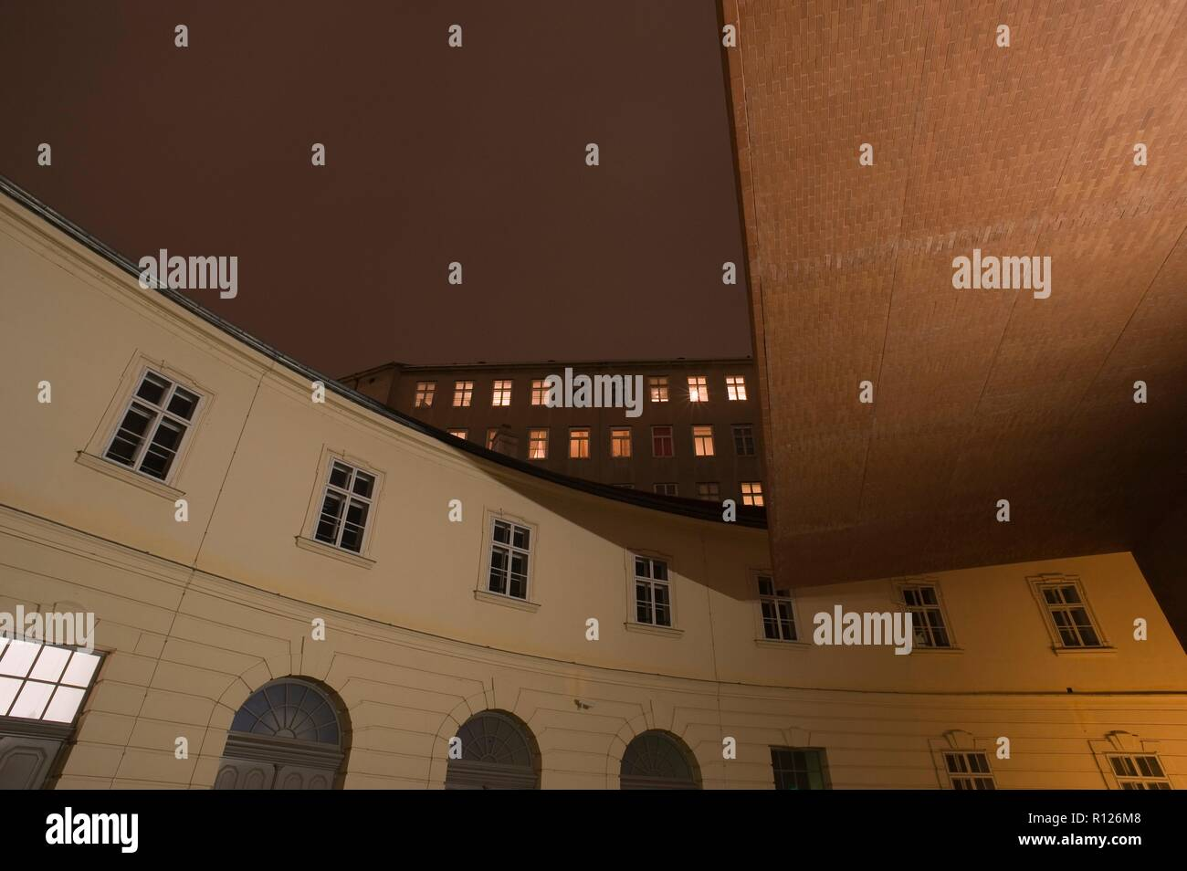 Wien, Museumsquartier, Architekturdetail - Vienna, Museumsquartier, Detail Stock Photo